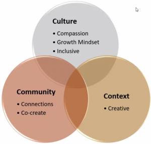 The 3 Cs of students' lived experience: culture, community, and context.